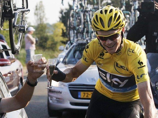 Vítěz Tour de France Brit Christopher Froome.