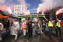 Protesty proti reformě pracovního práva ve francouzské Marseille