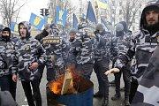 Na Ukrajině se proti ruským volbám demonstrovalo