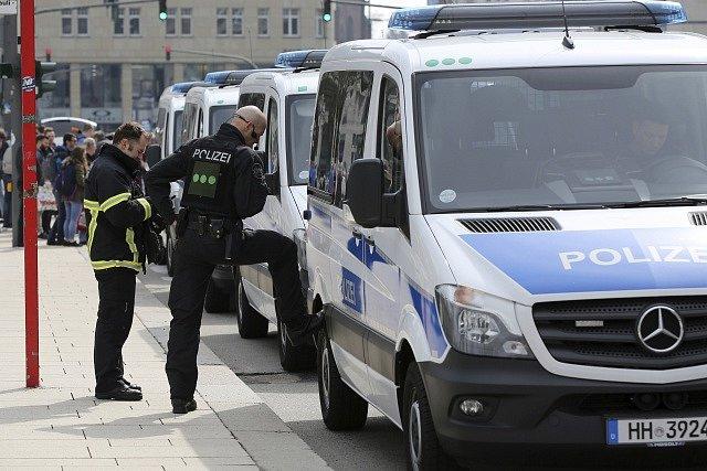 Zásah německé policie. Ilustrační foto.