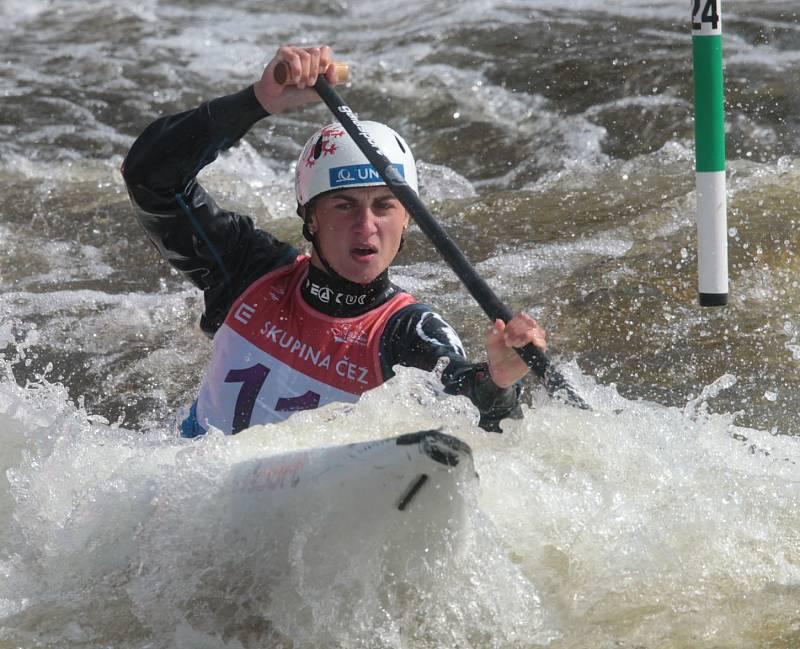 Gabriela Satková na ME ve vodním slalomu.