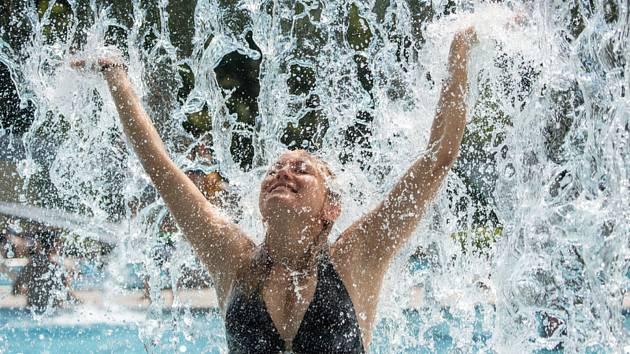 Vedra, osvěžení ve fontáně - ilustrační foto.