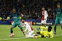 Utkání semifinále fotbalové Ligy mistrů Ajax - Tottenham.