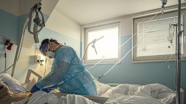 Covidové odělení nemocnice v Liberci
