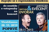 Zapojte se s regionálním Deníkem  do soutěže o vstupenky na koncert Vivaldianno poprvé v Lucerně!