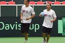 David Vydra (vpravo) na snímku po boku Lukáše Rosola