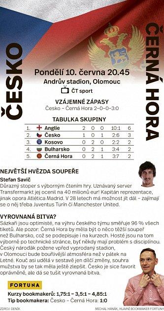 Česko - Černá Hora - Infografika