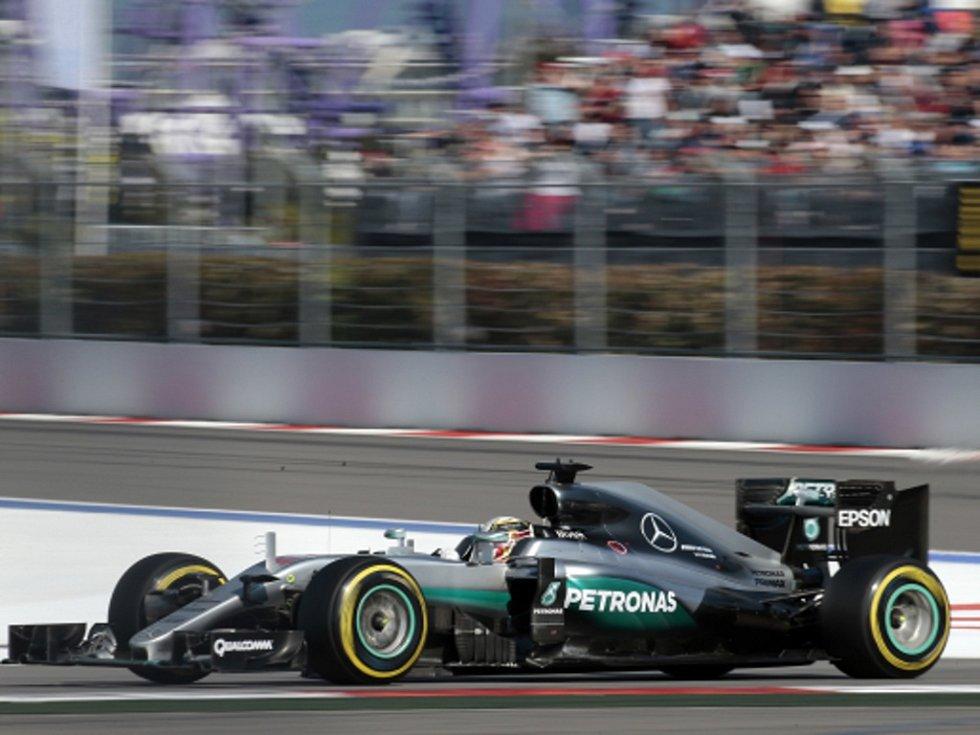 Lewis Hamilton ve Velké ceně Ruska.