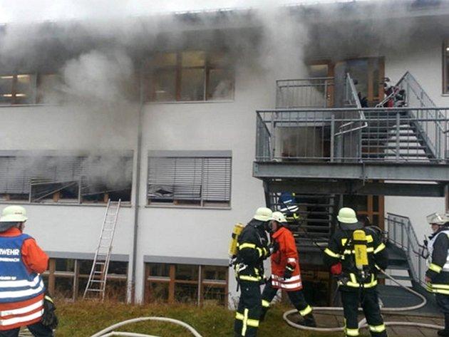 Požár dílny pro handicapované na jihozápadě Německa.