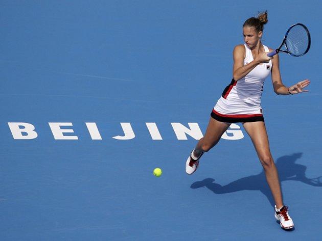 Karolína Plíšková na turnaji v Pekingu.