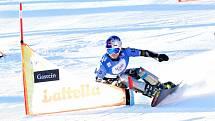 Ester Ledecká na snowboardu