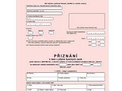 formulář k daňovému přiznání