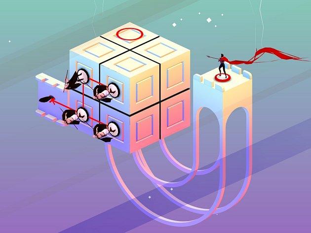 Mobilní hra Euclidean Lands.