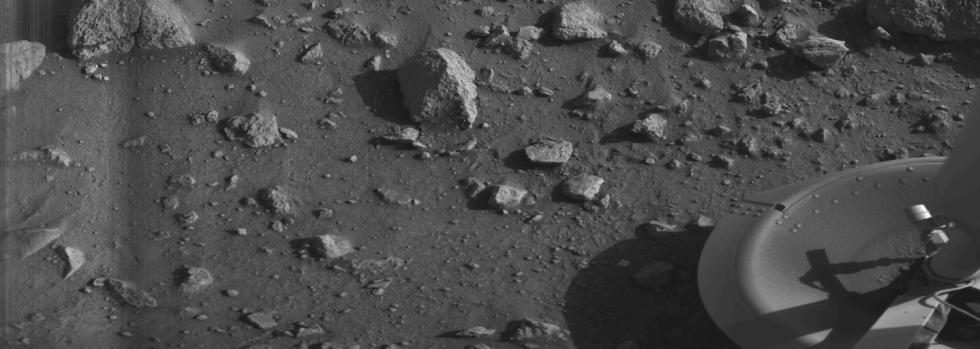 Jeden ze snímků pořízených sondou Viking 1.