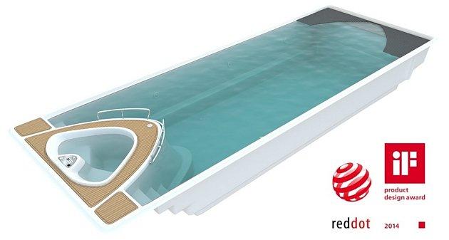 Bazén + jachta = relax jménem Yacht Pool