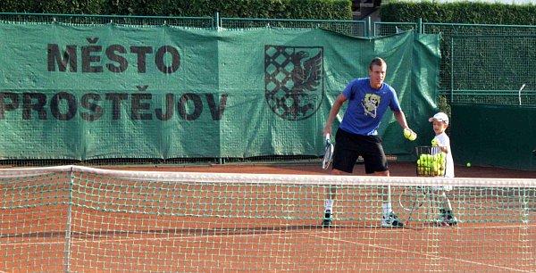 Tomáš Berdych na prostějovských kurtech