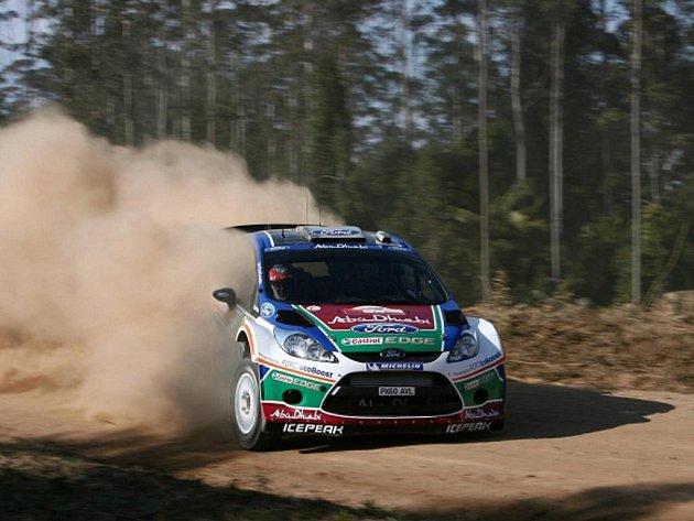Mikko Hirvonen na Australské rallye.