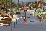 Řecký ostrov Chalkidiki zasáhla bouře.