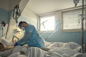 Covidové odělení nemocnice v Libereci