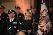 Slavnostní ceremoniál udílení státních vyznamenání. Tenistka Helena Suková.