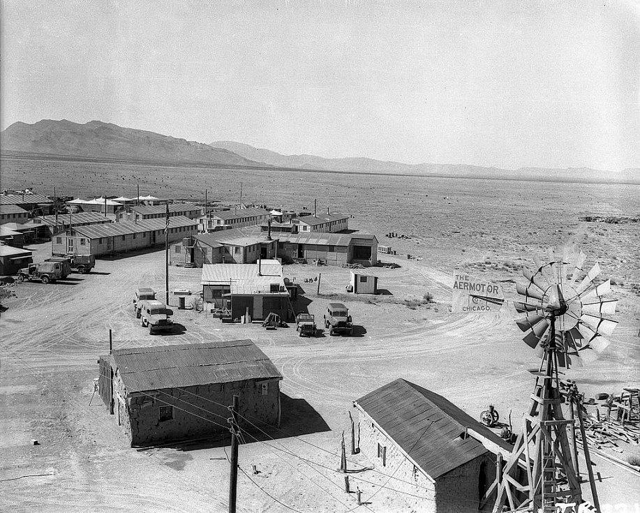 Základní tábor sloužící týmu, který provedl jaderný test Trinity