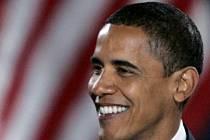 Šťastný Barack Obama těsně po svém volebním vítězství.