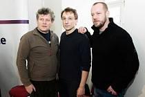 TÝM 1. ODDĚLENÍ. Herci Miroslav Hanuš, Petr Stach a Filip Blažek.