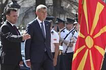 Makedonský premiér Zoran Zaev a český premiér Andrej Babiš