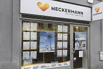 Prodejní místo české cestovní kanceláře Neckermann v Praze