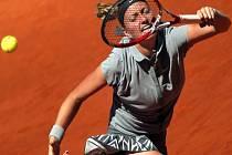 Petra Kvitová na turnaji v Madridu.