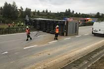 Nehoda na dálnici D1. Ilustrační snímek