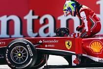 Filippe Massa Velkou cenu Německa nedokončil.