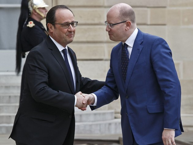 Sobotka v Paříži jednal také s prezidentem Françoisem Hollandem.
