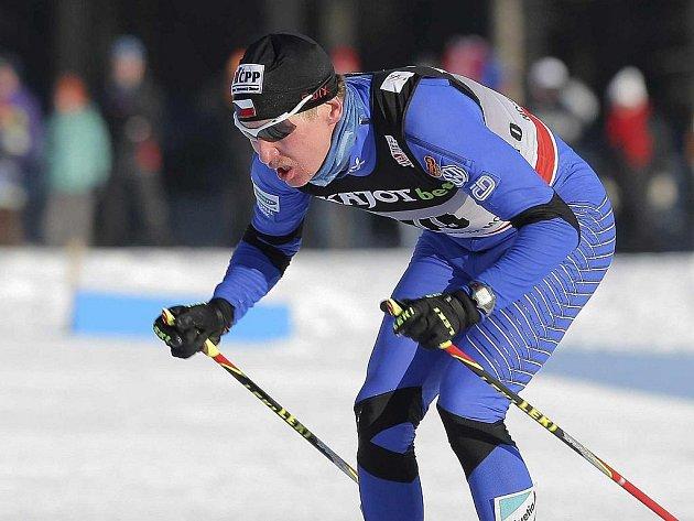 Lukáš Bauer v závodu Světového poháru v Novém Městě na Moravě.