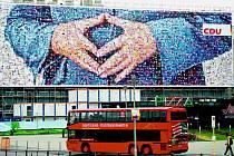 MAMUTÍ ROZMĚRY. Na německé poměry nezvyklý billboard o velikosti 2400 metrů čtverečních vyvolal v zemi pozdvižení.