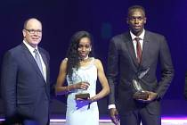 Almaz Ayanaová a Usain Bolt, nejlepší atleti uplynulého roku.