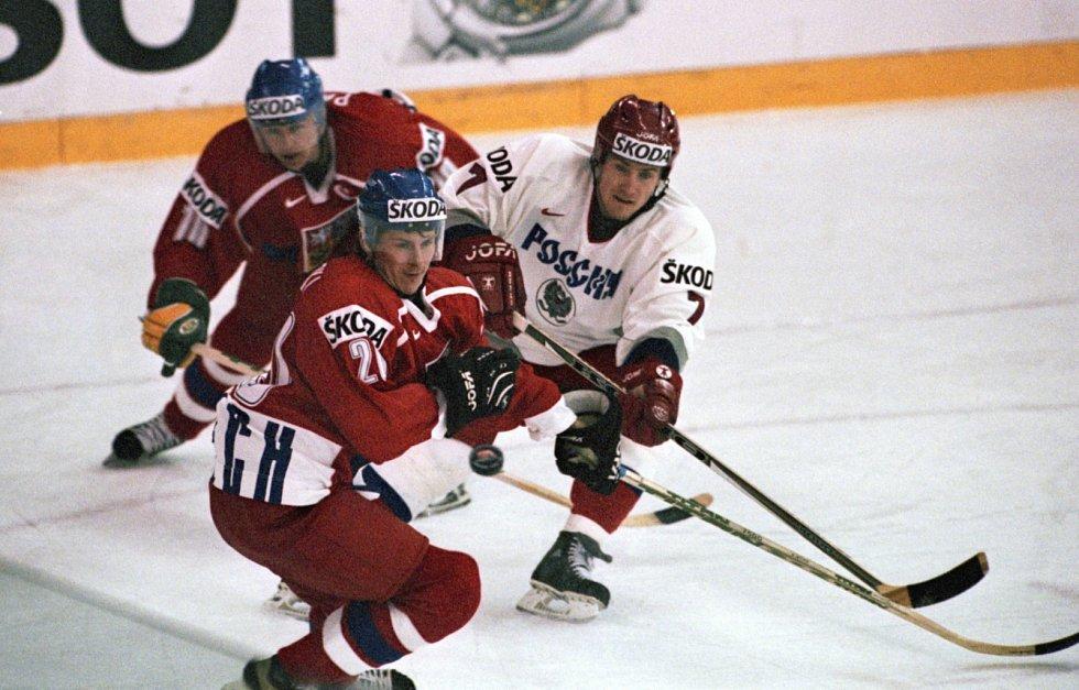 Pavel Patera a Martin Procházka v dresu české hokejové reprezentace