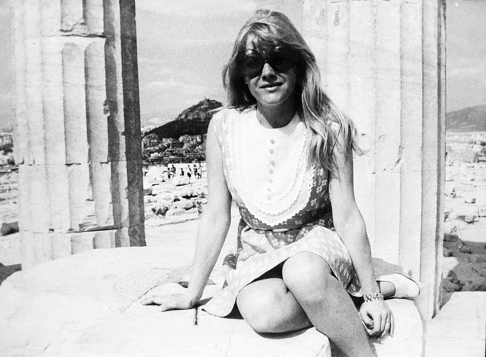 Eva Pilarová v roce 1969 v Aténách