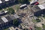 Domy v Baltimoru zničené výbuchem