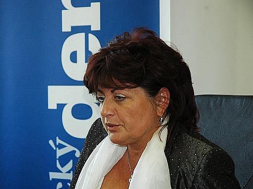 Náměstkyně hejtmana a partnerka Romana Housky Jana Vaňhová (ČSSD)