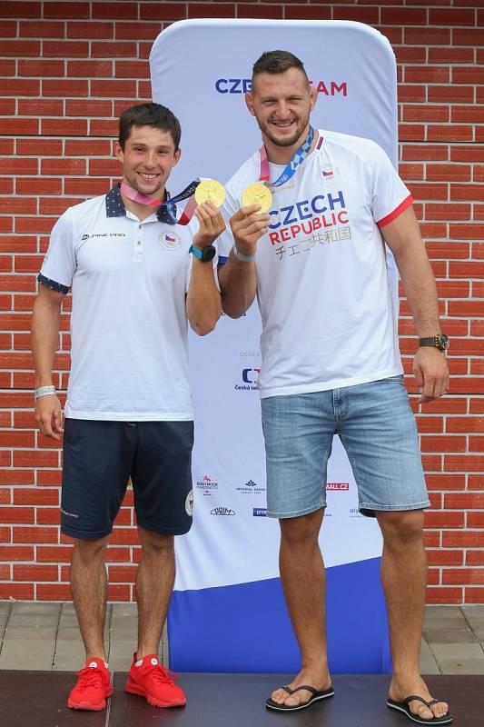 S kamarádem: Jiří Prskavec a Lukáš Krpálek