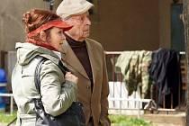 V neděli večer odstartoval pilotní díl nového seriálu TV Nova Gympl s (r)učením omezeným. Na snímku Libuše Šafránková a Stanislav Zindulka.
