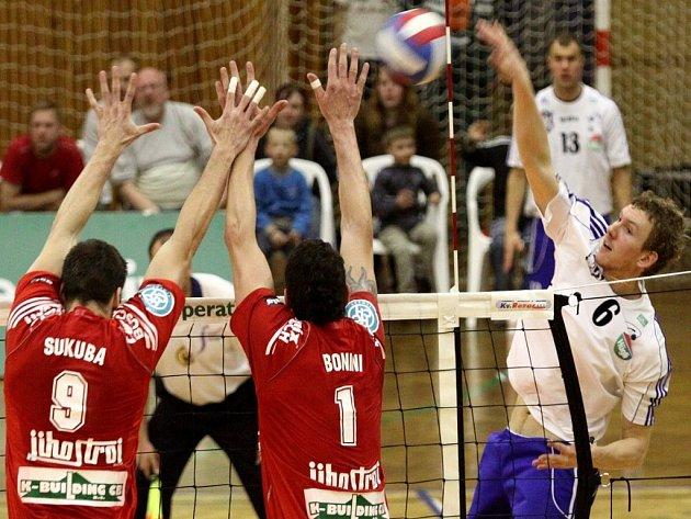 Kladenští volejbalisté zvítězili v druhém finálovém utkání proti Budějovicím.