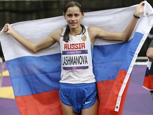 Jelena Lašmanovová vyhrála na olympijských hrách v Londýně závod na 20 km chůze ve světovém rekordu.