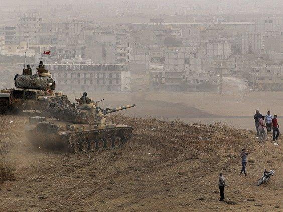 Boje o syrské město Kobani.