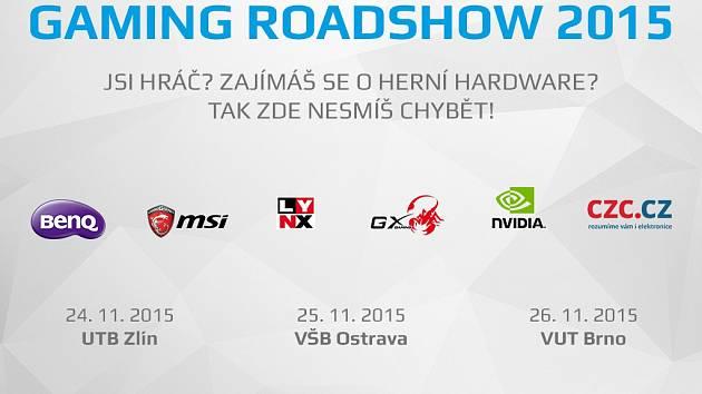 Pozvanka na Gaming Roadshow 2015.