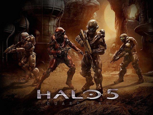Konzolová hra Halo 5: The Guardins.
