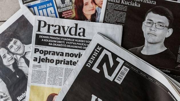 Slovenské deníky po vraždě novináře Jána Kuciaka