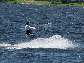 Vodní sporty na nádrži Nové Mlýny