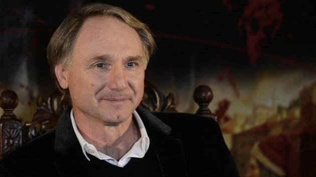 Americký spisovatel Dan Brown vystoupil 15. ledna v Praze na tiskové konferenci.